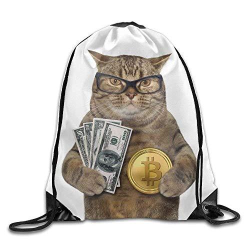 Michael Staton Alle sind Sich einig, Kordelzug Sporttasche Reiserucksack, süße lustige Katze, Sportgeräte Rucksäcke für Jungen Mädchen