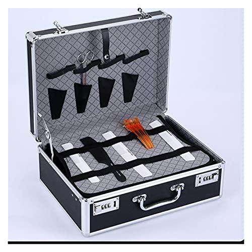 Bolsa de peluquero Bolso de Peluquero Maleta de herramientas de peluquería con bloqueo de contraseña Maleta multifunción MINDCASA Caja de almacenamiento de gran capacidad Almacenamiento de peluquería