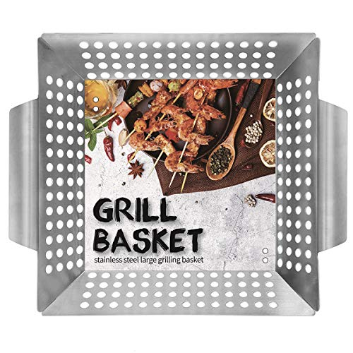 Ranphykx Vegetable Grill Basket for Veggies, Kabobs, Seafood, Meats Now $11.49