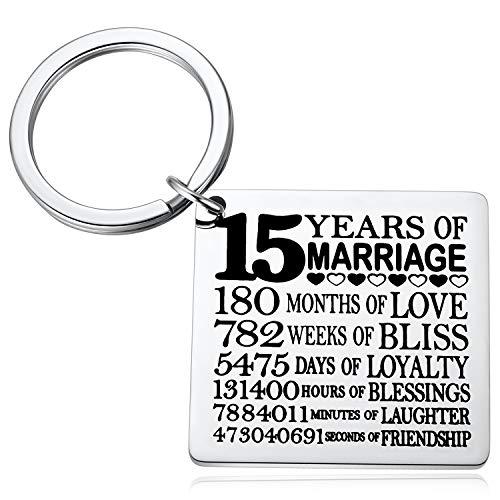 15 Years keychain