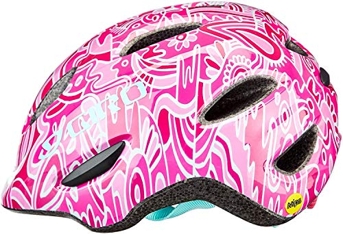 Giro Unisex Jugend Scamp MIPS Fahrradhelm Youth, pink Flower Land, XS (45-49cm)