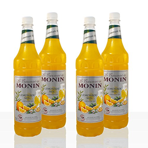 Monin Lemonade Mix Konzentrat, 4 x 1l PET-Flasche