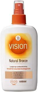 Vision Natural Bronze SPF 30, zonnebrand, langdurige zonbescherming en versnelt het natuurlijke bruiningsproces, met melan...