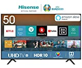 HISENSE H50BE7000 TV LED Ultra HD 4K, HDR, Dolby DTS, Slim Design, Smart TV VIDAA U3.0 AI, Triple...