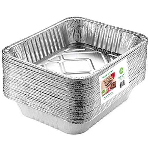 30 Pack Aluminum Pans Disposable   9x13 Inches Foil Trays with High Heat Conductivity   Deep Disposable Cookware for Baking, Grilling, Cooking, Storing and Prepping Easily Recyclable Material
