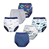 BIG ELEPHANT Unisex-Baby Toddler Potty 6 Pack Cotton Pee Training Pants Underwear