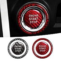 トヨタ 86 / スバル BRZ カーボン エンジン スタート ボタン カバー レッド プッシュスタート スターター ステッカー ZC6 ZN6