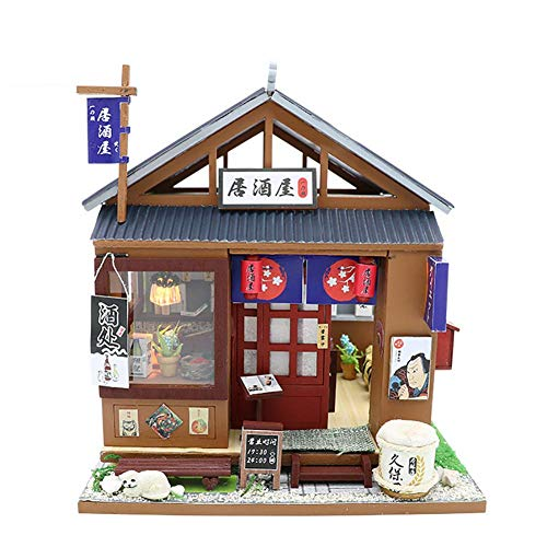 NAN Hölzerne Mini DIY Dollhouse Kit Möbel Kit Dollhouse 3D Montage Handgefertigte Haus Mit LED Cab Mini Cab