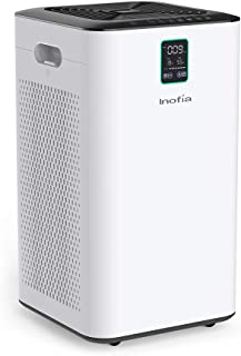 Inofia Air Purifier with True HEPA Air Filter, Wi-Fi Intelligent Control, Air Cleaner for Large Room, for Spaces Up to 1056 Sq Ft, Perfect for Home/Office with 2 Filters