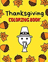 Thanksgiving Coloring Book: Jumbo Thanksgiving Coloring Pages for Kids