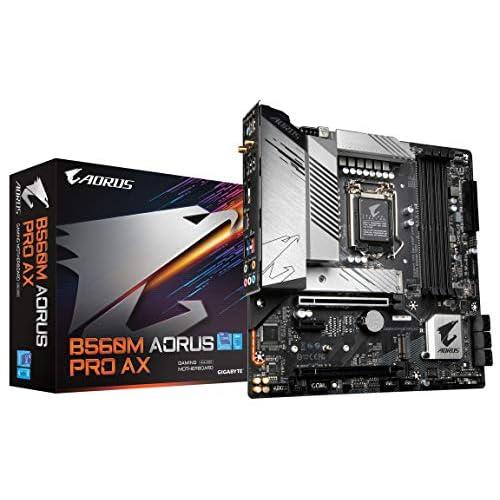 GIGABYTE B560M AORUS PRO AX (LGA 1200/ Intel/ B560/ Micro-ATX/Dual M.2/ PCIe 4.0/ USB 3.2 Gen2X2 Type-C/Intel WiFi 6/2.5 GbE LAN/scheda madre)