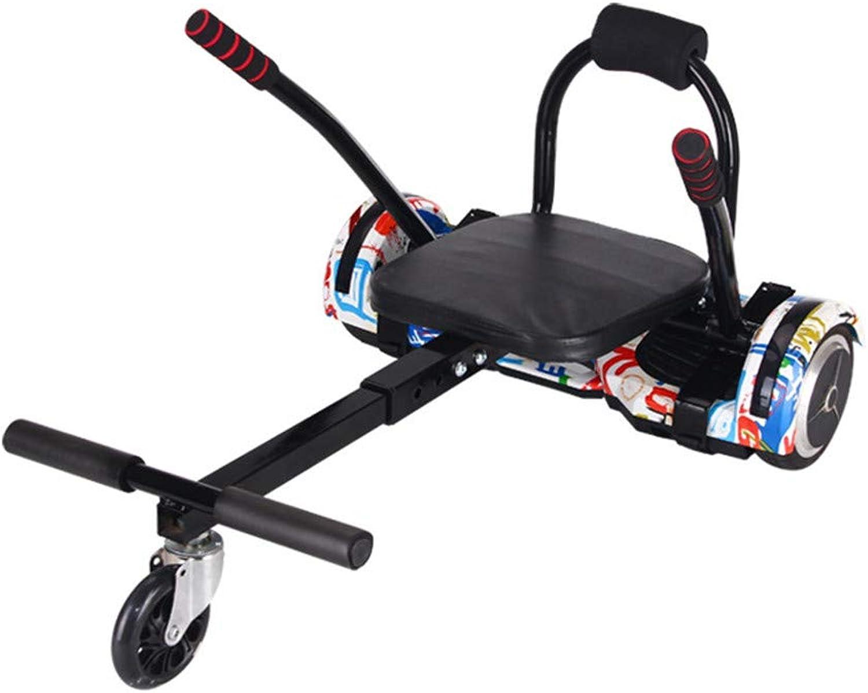 Hoverboard Go Kart Seat Adjustable Hoverkart Karting Frame for Self Balancing Electric Scooters Fits All Hoverboards Segways Sizes