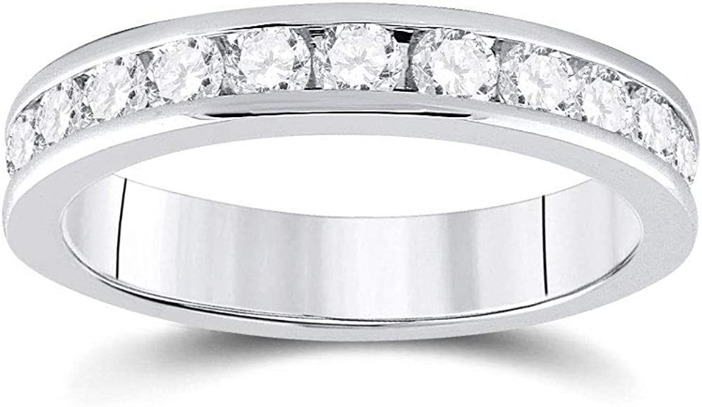 14kt White Max 60% OFF Gold Womens Round Diamond Cttw 4 Product 3 Wedding Band