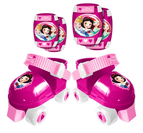 STAMP - ROLLER SKATES sizes 23/27 + ELLBOGEN und KNIESCHÜTZER - PRINCESS DISNEY