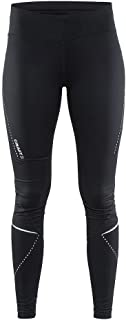 Craft Womens Essential Running and Training Fitness Workout Reflective Wide Waistband Tights