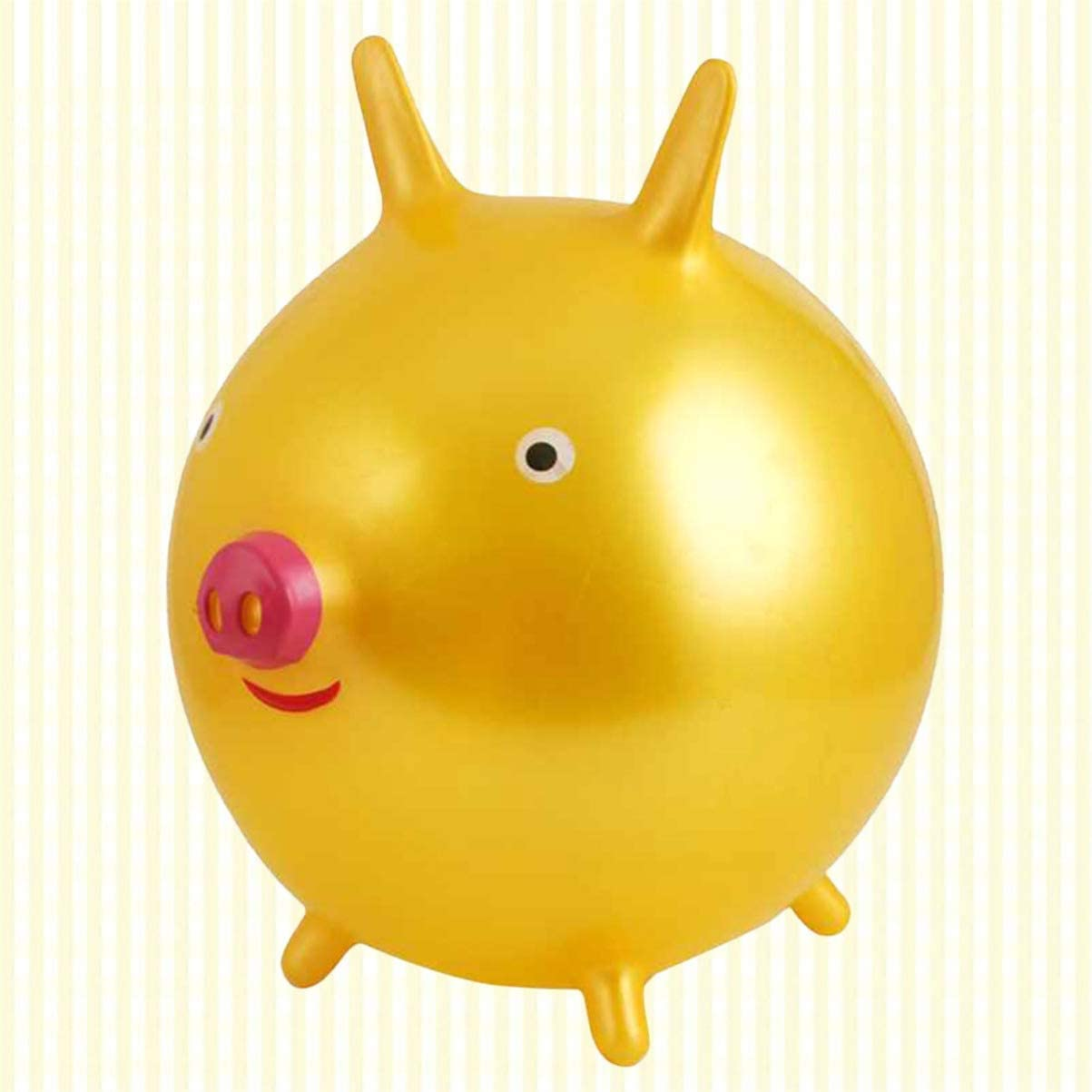 Jsmhh Hopper Ball Piggy Ride On Toys Thicken Ball Kindergarten Play Toys for Kids Peuter (Pink) (Color : Pink) Golden