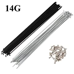 The length of spokes depending on your rim, hubs and your weaving method. So we have no suggestion on this, you can measure your old spokes first, please confirm before you place an order. Material: #45 Steel Modle :14G(Diameter: 2 mm) From the elbow...