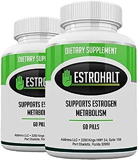 Estrohalt 2 Pack 120 Pills- DIM Supplement (Diindolylmethane) and Indole-3-Carbinol (I3C) Best Estrogen Blocker for Women ...