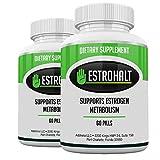 Estrohalt 2 Pack 120 Pills- DIM Supplement (Diindolylmethane) and Indole-3-Carbinol (I3C) Best Estrogen Blocker for Women & Men | Natural Aromatase Inhibitor Vitamin to Help PCOS, Menopause, and PMS