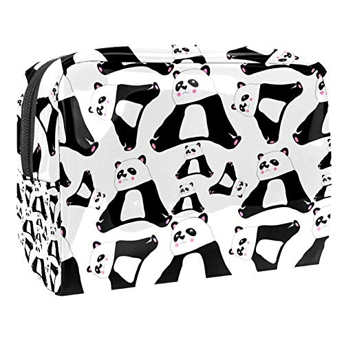 Maquillage Cosmetic Case Multifunction Travel Toiletry Storage Bag Organizer for Women - Cute Panda Black White