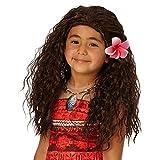 Parrucca originale della principessa Disney Vaiana per bambini – Capelli lunghi color castano