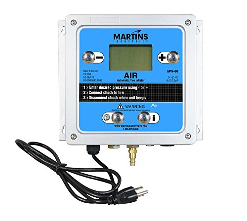 """Martins Industries MW-60 Automatic Tire Inflator, 145 PSI, 1 Outlet, 9"""" Length, 3.5"""" Height, 10.5"""" Width, Blue"""