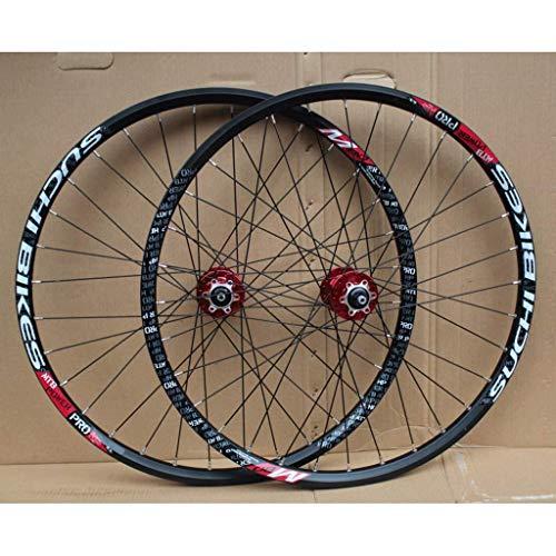 TYXTYX Llanta MTB de Doble Pared Juego de Ruedas de Bicicleta de 26 Pulgadas Rodamiento Sellado Freno de Disco Liberación rápida para Ruedas de Bicicleta de Volante de inercia de Cassette de 8-10 v