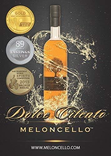 Meloncello Licor - Dolce Cilento Licor de Melón Italiano (3 ...