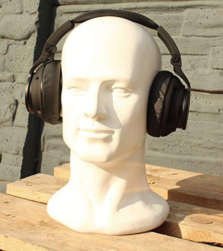 Dekokopf Kopfhörerständer Helmständer Mützenständer-WEIß