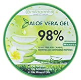 MILAGANICS ALOE VERA GEL FOR BURNS AND VITAMIN E with NATURAL INGREDIENTS, HERBAL ESSENCES, ANTI-AGING, PROVIDE MOISTURE NON-STICKY FEELING, PREVENT DRY, FLAKY SKIN, MOISTURIZING GEL FACE 300ml