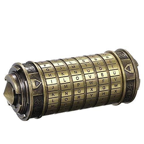 yorten Cilindro de Contraseña Código Juguetes Cerraduras de Metal Cryptex Regalos de Boda Regalo de San Valentín Contraseña
