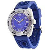 Vostok Amphibian #710406 - Reloj de pulsera automático para hombre, color azul marino