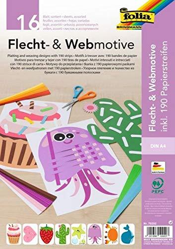 folia Flecht- & Webmotive Set DIN A4 16 Blatt