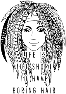 Notebook: Life is Too Short to Have Boring Hair  110 page (8.5 x 11 inch) Large Composition Book, Journal and Diary for School, Taking Notes, Writing, ... and More! (8.5 x 11 Lined Journals)