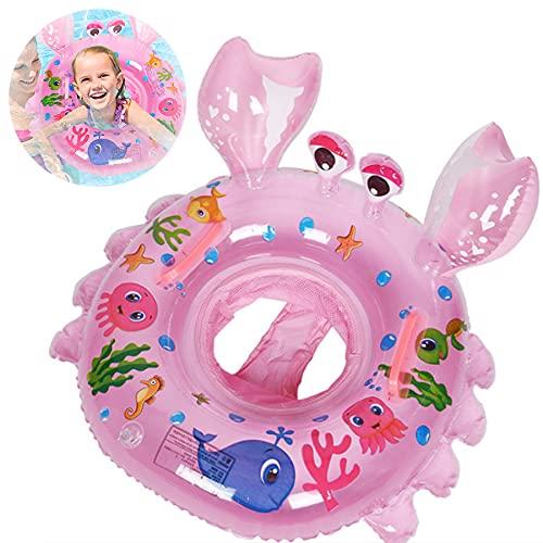 Baby Schwimmring,Schwimmsitz Kinder,Baby Aufblasbarer Schwimmreifen,Schwimmreifen Spielzeug,Pool Baby Schwimmen Ring,Baby Schwimmring Aufblasbarer,Kinder Schwimmhilf (Krabbennudeln)
