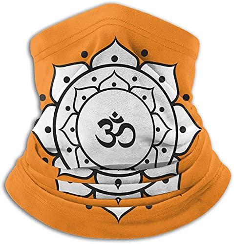 Om Signo Símbolo Lotus Microfibra Cuello Calentador Bufanda Polaina Headwear