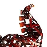 Tooarts Metall Geflochtenes Pferd Deko Skulptur Dekofigur Moderne Skulptur zum Dekorieren - 6