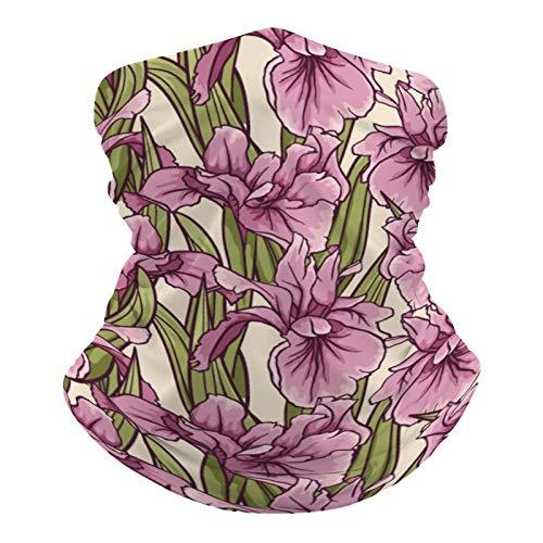 DKE&YMQ Pañuelo multifuncional para la cabeza, bufanda elástica, tubo mágico, pasamontañas, pasamontañas, para yoga, correr, senderismo, ciclismo, pétalo, flores, morado, lavanda, planta de flores