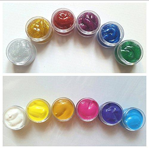 NEW Lot de 12 Couleurs Acrylique Nail Art, Kit pour One Stroke Accessoires Manucure Design, paillettes acrylique couleurs, döschen 10 ml Fleurs Artificielles