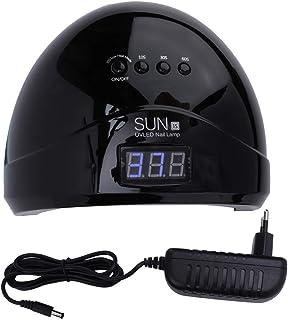 Secador de uñas con lámpara LED, máquina de curado de manicura con luz de Gel de Doble Fuente de luz(Enchufe Negro de la UE)