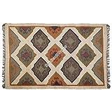 Handicraft Bazarr Alfombra para interiores y exteriores, de lana Kilim, de 4 x 6 pulgadas, estilo étnico, estilo vintage, alfombra de yoga, alfombra tejida Kilim, alfombra turca para sala de estar