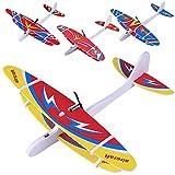 DUOIAO Avion Planeurs Enfant Jouet, Avion Jouet, Avion Polystyrene en Mousse Rechargeable Éducatifs pour Enfants Garçons Filles (1 pc de Couleur Aléatoire)