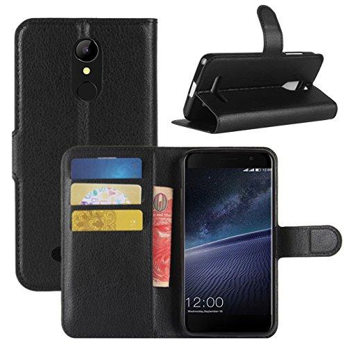 HualuBro Cover per Leagoo M5 Edge, Flip Case Cover in PU Pelle Premium Stand Antiurto Portafoglio [Slot Carte] Leather Wallet Phone Protettiva Custodia per Leagoo M5 Edge (Nero)