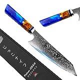 Jikko® Couteau de Chef Japonais 33cm avec Lame en Acier...