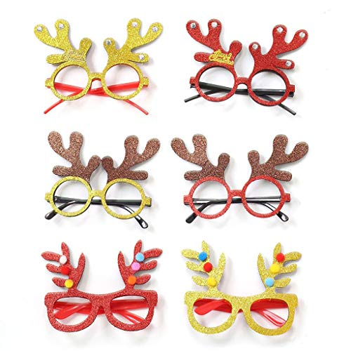 Dasongff Kerstbril, kerstboom, rendier, leuke bril, partybril, kerstdecoratie, kerstcadeau, voor kinderen en volwassenen, kostuum 1 pc C