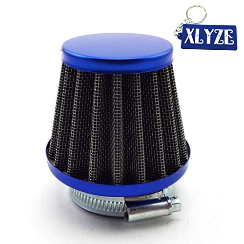 Xlyze Performance Filtre à air Bleu 38 mm pour moteur de scooter ou quad chinois GY6 50 cc QMB139