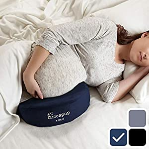 hiccapop Pregnancy Pillow Wedge for Maternity | Memory Foam Pillows Support Body, Belly, Back, Knees