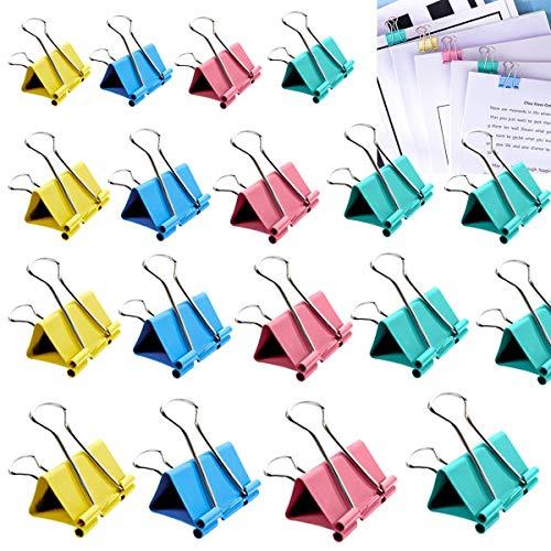 Foldback Binder Clips,OSUTER 172PCS Bulldog Clips de Metal Multifunción Pequeños Pinzas de Papel para Bolsa de comida Foto Suministros de Oficina