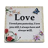 Christians Words Love Sign Wall Plaque with Easel and Hanging Hook Wisdom Motivational Home Decoration Frame Suitable for Wall and Tabletop Decor