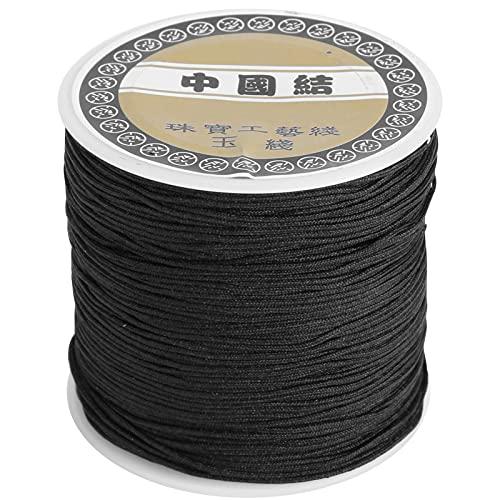 Cordón de satén de Nailon, cordón Decorativo elástico de Nailon, Hilo de Tejer a Mano de Nailon, fabricación de Joyas de Anudado Chino DIY de 0,8mm